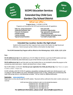 SCOPE - Extended Day Child Care: 10/19, 10/26, 11/9, 11/16